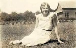 granny in the grass